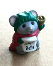 Hallmark Merry Miniatures 1989 Grey Mouse Caroler