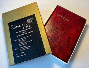Vintage Cambridge Cameo Holy Bible, KJV, Red Letter, Concordance, Unusual Colour