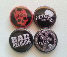 "4 x Bad Religion 1"" Pin Button Badges ( punk rock hardcore music )"