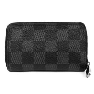LOUIS VUITTON zip around purse N63076 Damier Graffit coin purse Coin Pocket ...