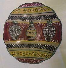 ancienne assiette décorative céramique polychrome LABOR DERUTA ITALY