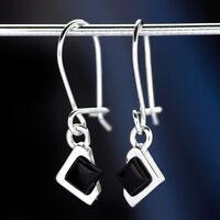 Onyx Silber 925 Ohrringe Damen Schmuck Sterlingsilber H0583