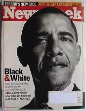 BARACK OBAMA / BLACK & WHITE July 16, 2007 NEWSWEEK  2nd NEWSWEEK COVER