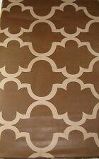 Tone on Tone Brown Lattice  Vinyl Tablecloths  Assorted  Sizes Oblong & Round