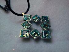 PRECIOSA Brand Aqua Crystal Necklace- Made in the Czech Rep