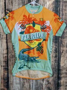 Pearl Izumi Womens M State of Florida Oranges Gators Tri Bike Cycling Jersey