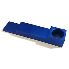 Magnetic 2-Piece Folding Aluminum Tobacco Accessory, Blue- Green Goddess Supply