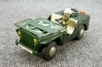 VINTAGE 1960s TIN LITHO ANTI AIR CRAT PATROL JEEP MADE IN JAPAN