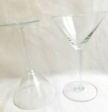 Crystal Clear Glass Footed Cocktail Wine Martini Goblets Lot of 2 Glasses