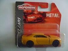 CHEVROLET camaro  jaune  ech 1/62  MAJORETTE  métal  neuf  blister non ouvert