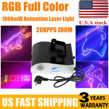 1W Dmx Rgb Full Color Animation Laser Light Dj Stage Effect Party Light 1000mW