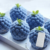 3D Raspberry Blueberry Cake Silicone Mold for DIY Baking Dessert Mousse Bakeware