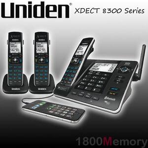 Uniden XDECT 8355 8315 8305 Cordless Long Range DECT Phone Handset Bluetooth USB