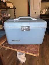 Vintage StarFlite Carolina Blue Hard Side Make Up/Overnight Carrier