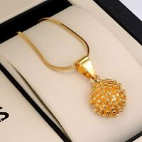 """Unique Pendant Necklace 18K Yellow Gold Filled 18""""Link GF Fashion Jewelry"""