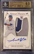 2015 National Treasures Addison Russell Auto Patch Chicago Cubs BGS 9.5 /49