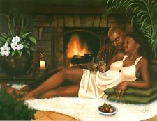 "African American Art ""To Us"" Black Romantic Art Print  Henry Lee Battle"