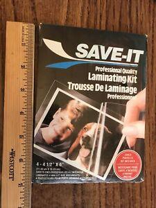 """Save-It Laminating Kit - 4 sheets (4-1/2""""x6"""")"""