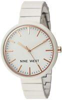 Nine West Women's NW/2012IVRG Matte Ivory Rubberized Bracelet Watch