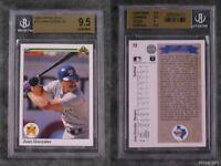 BGS 9.5 Juan Gonzalez 1990 Upper Deck Rookie Graded Baseball Sports Card #72