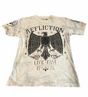 Affliction Men's T-Shirt Large Eagle Live Fast 1973 Distressed (Hw)