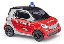BUSCH 50711 Smart Fortwo Coupé C453, Bombero H0 #nuevo emb. orig.#