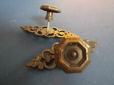 Pair of Edwardian Drawer pulls with decorative escutcheons