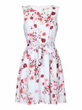 Yumi Rose Print Dress Light Blue Size UK 14 rrp £45 DH170 BB 09
