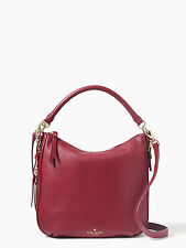 Kate Spade Cobble Hill Small Ella Red Leather Convertible Hobo /Shoulder Bag NWT