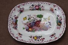 Antique Mason's Ironstone - Fruit Basket Pattern  - Large Meat Platter - Signed