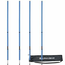 ALPHA Gear Elevated Spring Agility Poles - 4 Pack - 2 Piece - BLUE