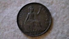 1947 & 1948 Uk Great Britain One 1 Penny King George Vi Coin