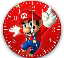 """Super Mario Games wall Clock 10"""" will be nice Gift and Room wall Decor W08"""