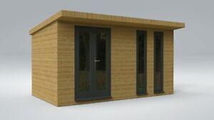 Summerhouse/Office Garden Building Cabin 14'x8' (4.3m x 2.4m) Plans Instructions
