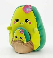 "Squishmallow Kellytoy 8"" Ava Avocado & baby Plush Doll Toy Pillow Pet"
