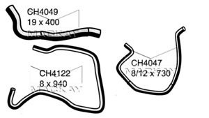 Mackay Coolant Expansion/Recovery Tank Hose set HOLDEN ASTRA 1998~2005 1.8 litre