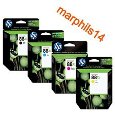 Originales Hp 88XL Negro, Cian, Magenta, Amarillo, HP88XL Cartuchos De Tinta Hp 88 XL