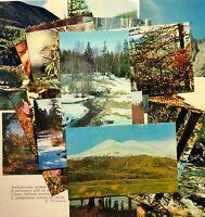 Postcards Russia Nature Landscapes Unposted Lot 21 pcs Vintage Photo 1960-80s