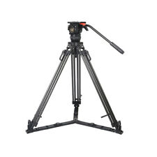 TERIS TS-N6T Professional Carbon Fiber Video Camera Tripod Kit w/ Fluid Head 7KG