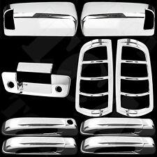 For Dodge Ram 1500 09-15 Chrome Cover Set Upper Mirror 4 Door Tailgate Taillight