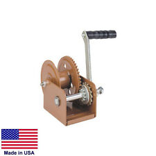 """HAND WINCH Trailer Winch - Heavy Duty - 800 Lb Cap - Holds 68 Ft of 3/16"""" Rope"""