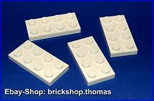 Lego 4 x placa (2 x 4) - 3020 blanco-White plate-nuevo/new