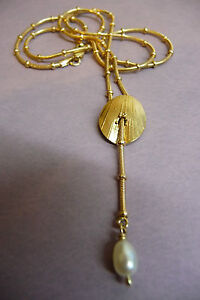"Ola Gorie 9ct Yellow Gold Eve Pearl Pendant Chain 18"" Scottish Box"