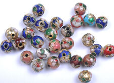 10PCS mixed color round Cloisonne spacer beads 10MM JK0076