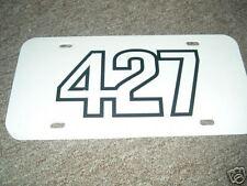 Ford 427 Black White Logo License Plate