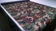 """Woodlands Camo Nylon 1000D Coated Cordura Outdoor Waterproof 60""""Wide Fabric Dwr"""