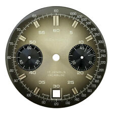 Wakmann Two Register Dial Part 7734 Incabloc Chronograph Watch Dial Replacement