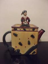 Sakura Debbie Mumm Ceramic Elgin the Elf Tea Pot Square Holiday Christmas EUC