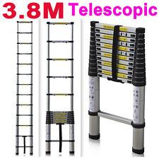 12.5FT Aluminium Ladders Telescoping Multi-Purpose Extension Ladder Collapsible