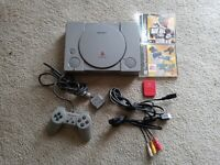 Sony Playstation (Model SCPH-9001 ) Complete W/MLB Games + Memory Card Tested